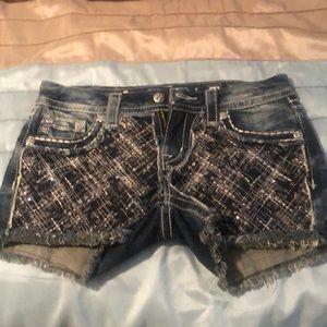 Miss Me signature shorts